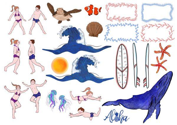 Imágenes Kit Art Surfea la Ola